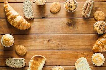 Variedade de pão e padaria