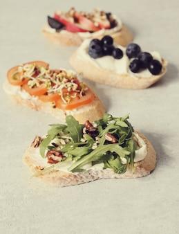 Variedade de sanduíches