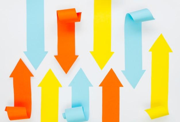 Variedade de setas multicoloridas