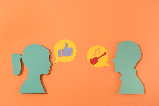 Variedade de símbolos de mídia social