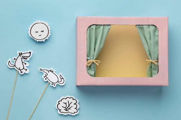 Variedade de teatro de fantoches de papel