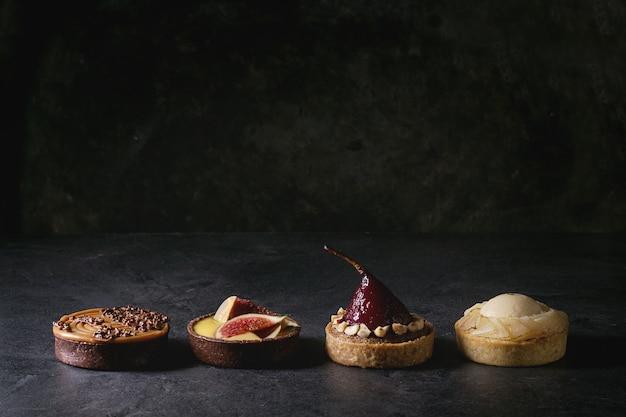 Variedade de tortinhas doces