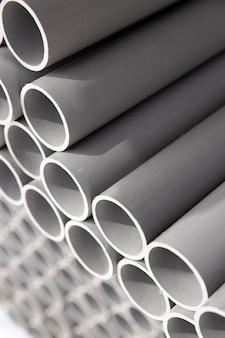 Variedade de tubos de pvc de construção minimalista