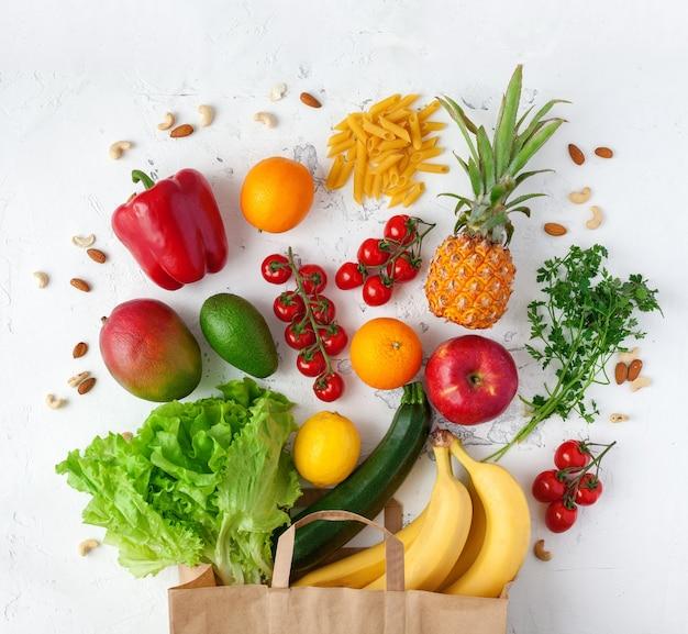 Variedade de vegetais e frutas