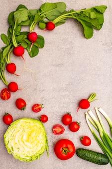 Variedade de vegetais orgânicos frescos