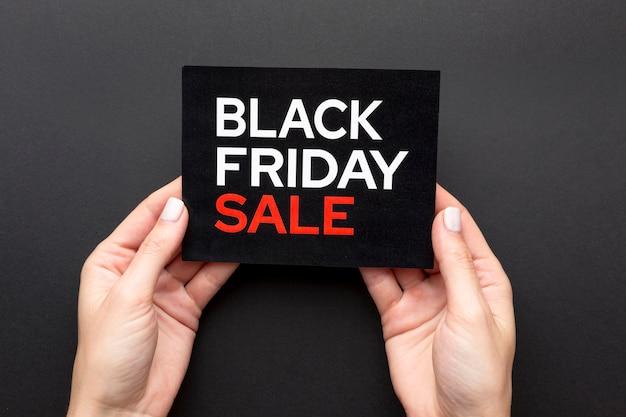 Variedade de vendas da black friday