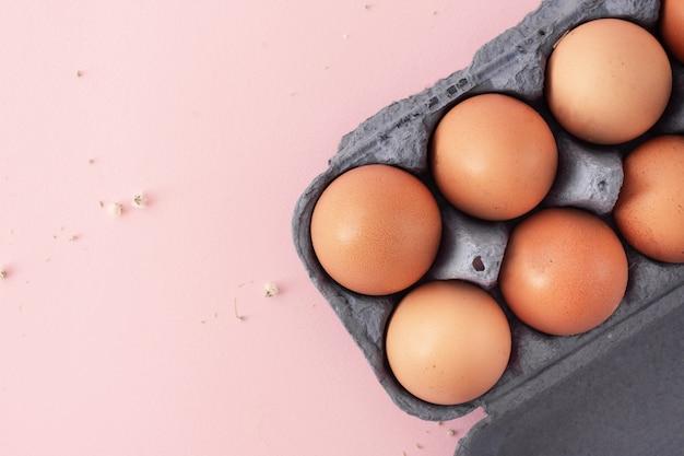 Variedade de vista superior de ovos de páscoa