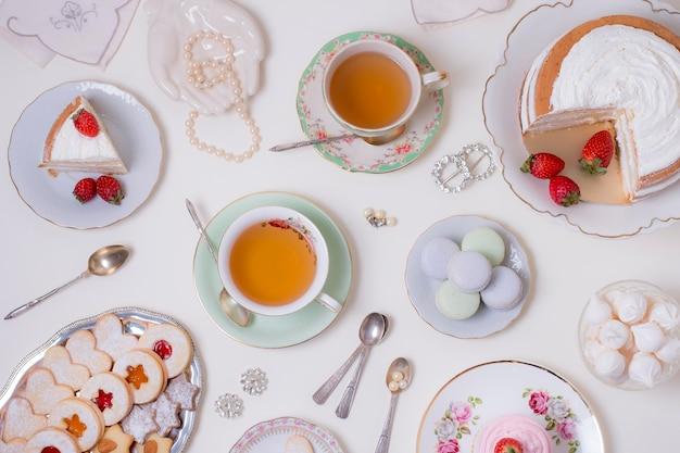 Variedade elegante de chá