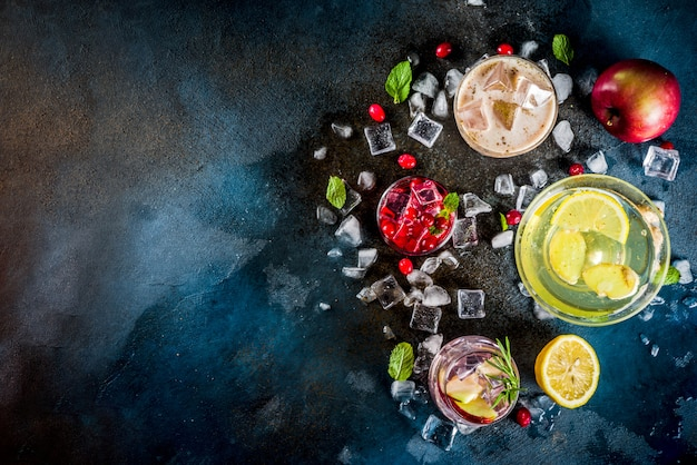 Variedade outono inverno frio gelado cocktails