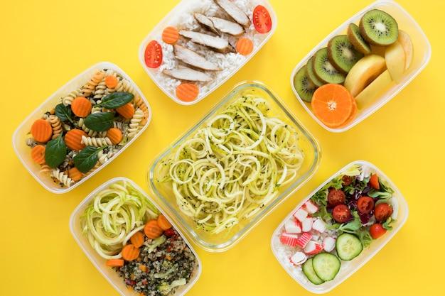 Variedade plana leigos nutrir alimentos