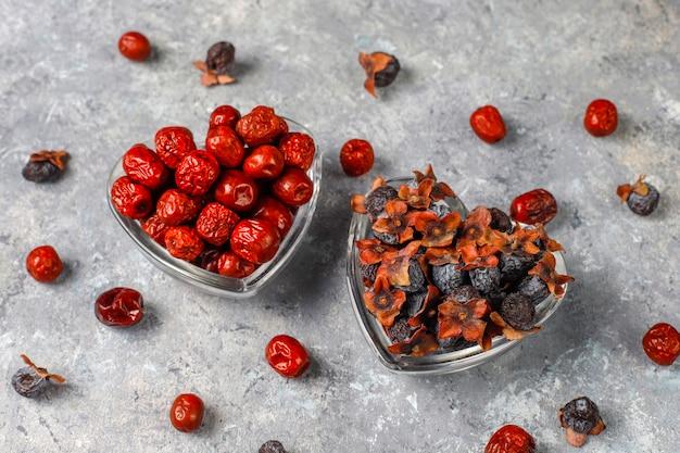 Variedade saudável de frutas secas