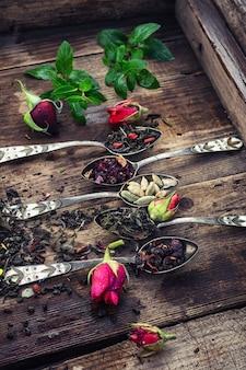 Variedades de fabricação de chá