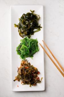 Variedades de salada de algas