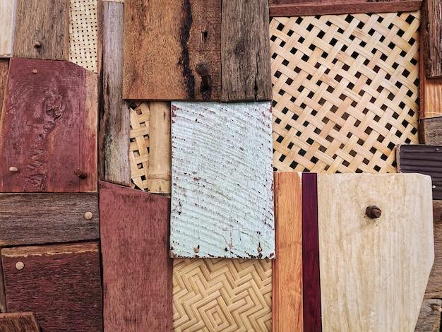 Vários designs de parede de painéis de madeira