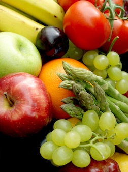 Vários frutas e legumes