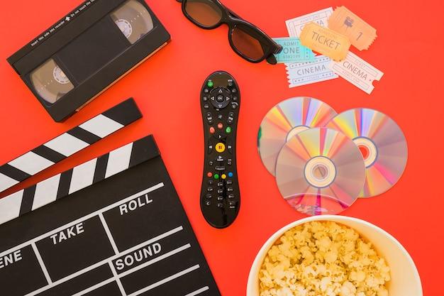 Vários objetos de filme