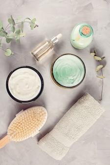 Vários objetos relacionados ao spa