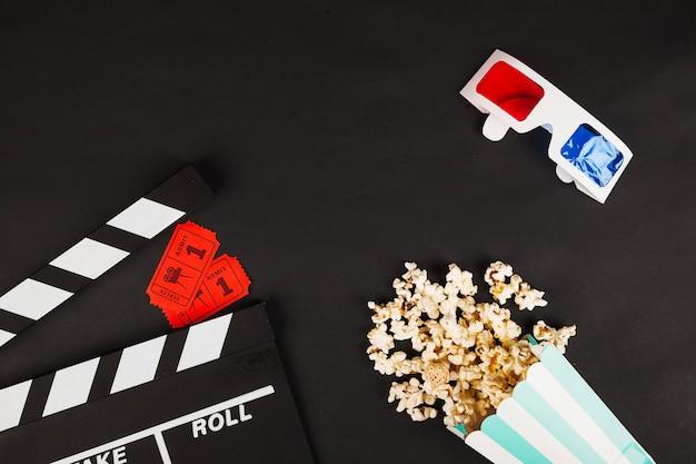 Vários símbolos de cinema
