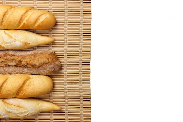 Vários tipos de baguete francesa
