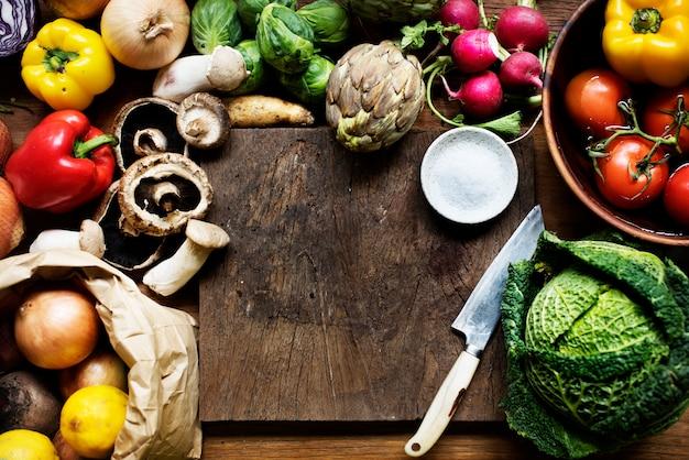Vários tipos de legumes frescos