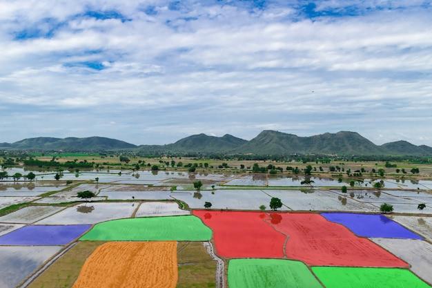 Varredura de tecnologia agrícola automática de área agricultura