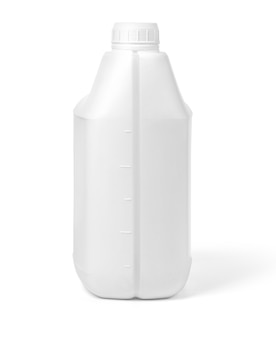 Vasilha de plástico em fundo branco com traçado de recorte