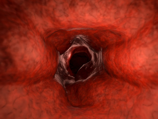Vaso sanguíneo de renderização 3d