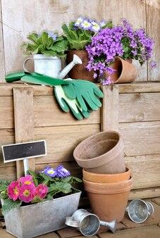Vasos de flores e acessórios de jardinagem