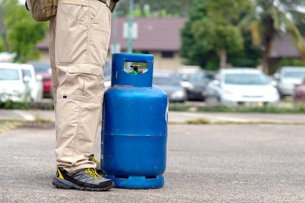 Vazamento de gás, treinamento de extintores de incêndio