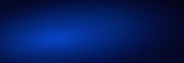 Vazio azul escuro com fundo abstrato de banner de luz e sombra