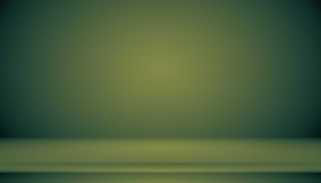 Vazio green studio bem usado como plano de fundo, modelo de site, quadro, relatório de negócios.