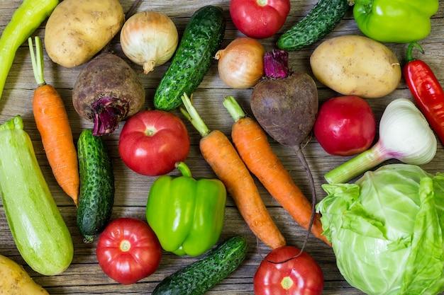 Vegetais coloridos diferentes