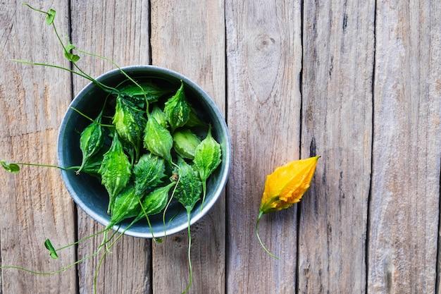 Vegetais de cabaço amargo. comida saudável