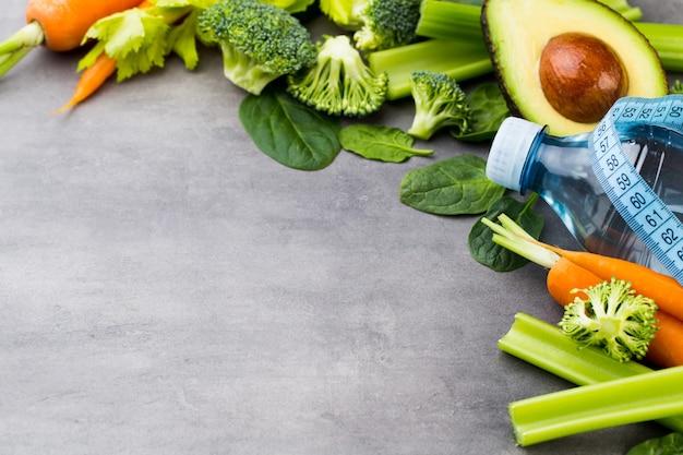 Vegetais frescos saudáveis