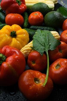 Vegetais multicoloridos