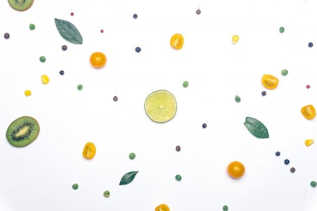 Vegetais vegan e fundo de desintoxicação de frutas