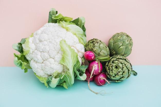 Vegetais verdes em mix