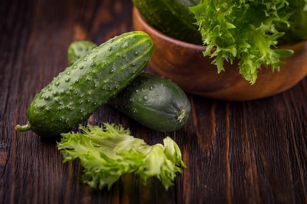 Vegetais verdes frescos