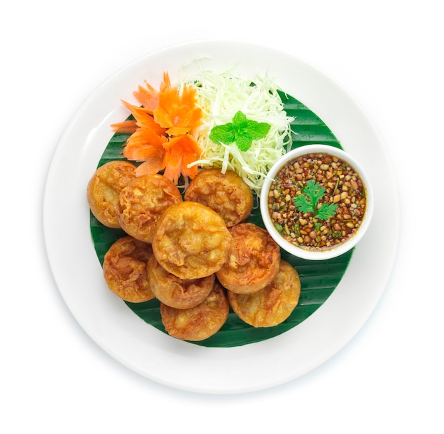 Vegetariano frito do bolo do taro (zhu jiao quan)