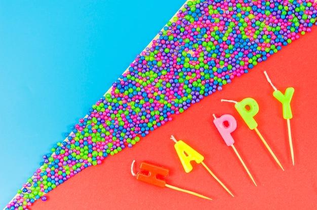 Velas de aniversário colorido