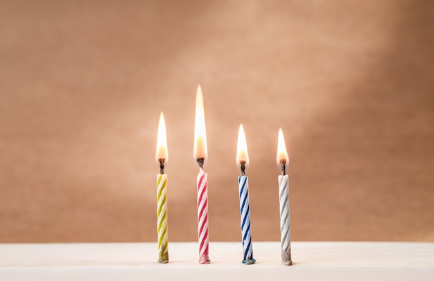 Velas de aniversário