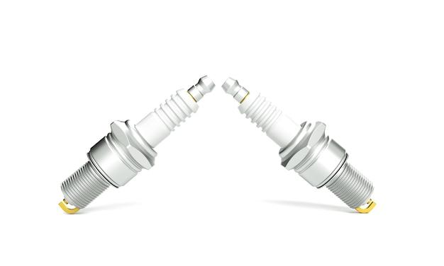 Velas de ignição de peças sobressalentes em fundo branco para carro e motocicleta novo automóvel