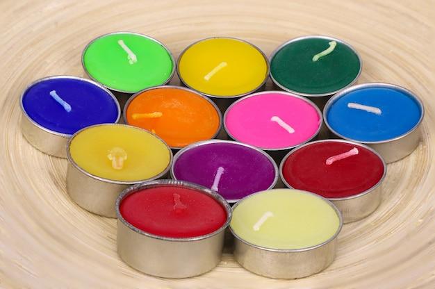 Velas multicoloridas
