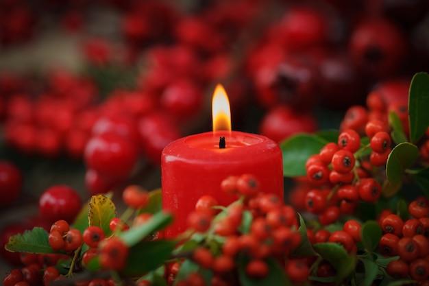 Velas vermelhas de natal