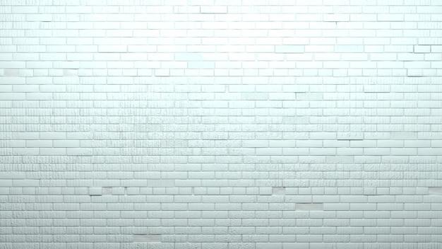 Velha parede de tijolos brancos