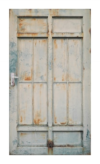 Velha porta de zinco