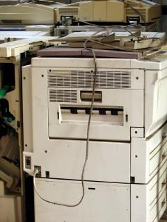 Velhas máquinas de fotocópia