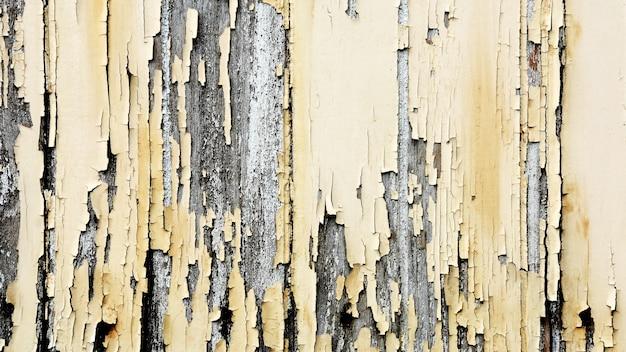 Velho amarelo na textura de madeira