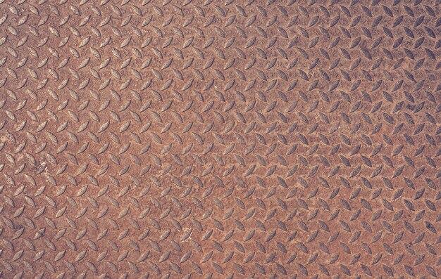 Velho enferrujado ferro diamante placa vintage fundo de metal texturizado