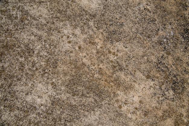 Velho muro ao ar livre de cimento com manchas e mofo.